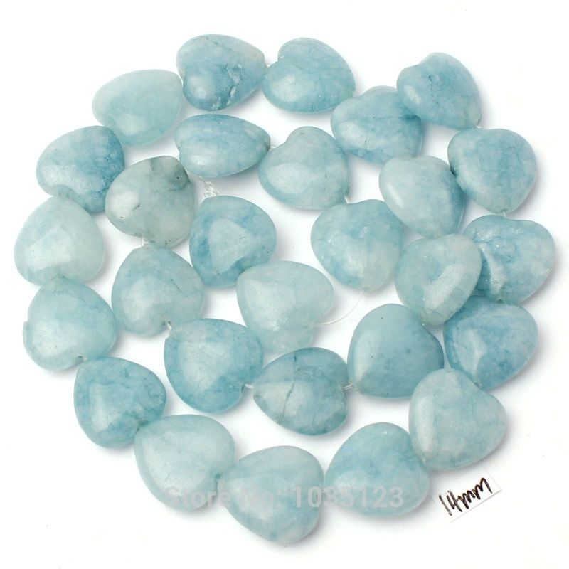 Elegant Free Shipping 14mm Natural Light Blue Stone Heart Shape Gems Loose Beads  Strand 15 Great Ideas