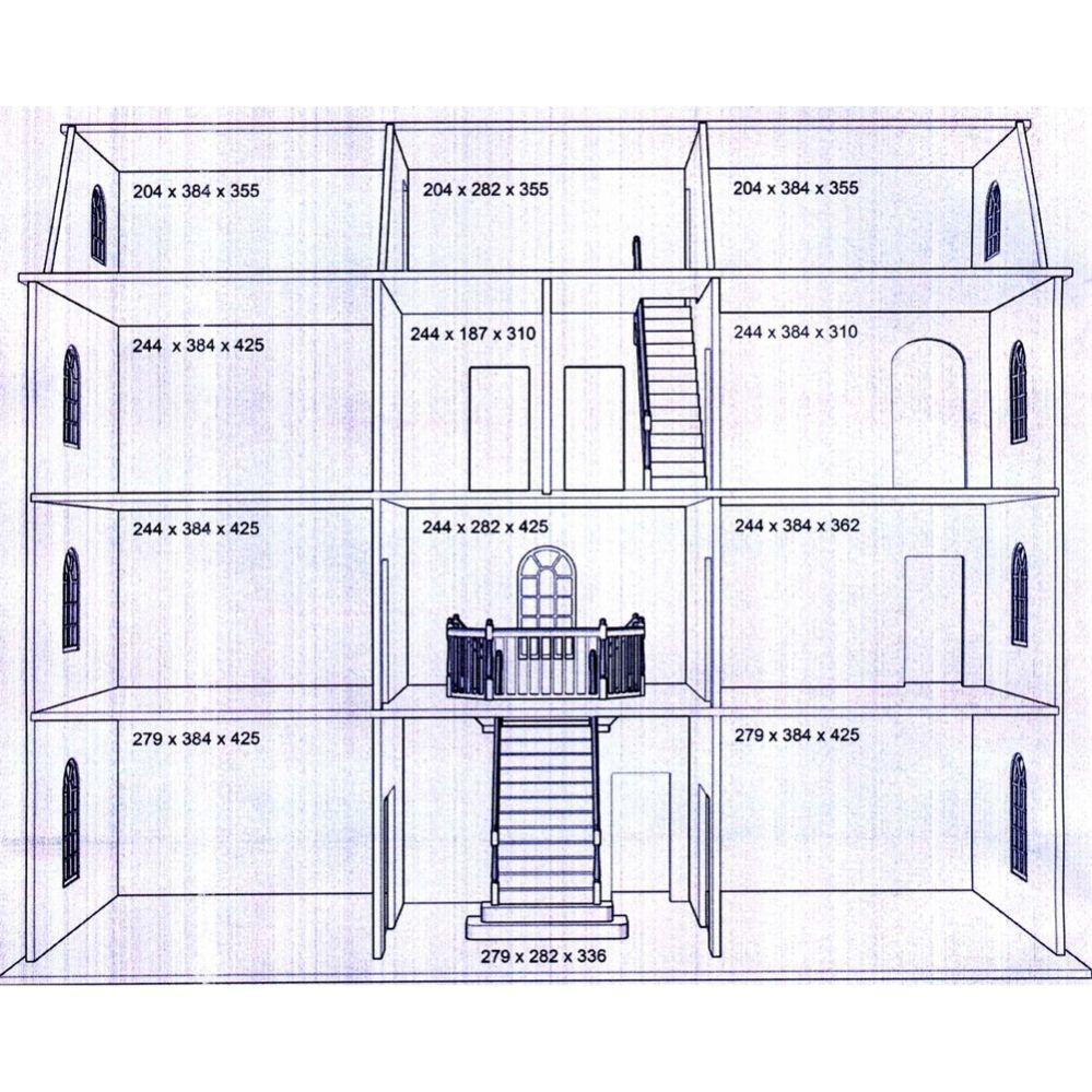Btk003 Downton Manor Dolls House Kit Latest Design