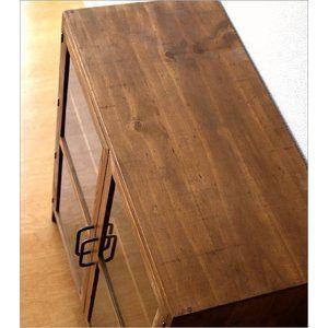 Cabinet Wooden Storage Shelf with Door Storage Shelf Antique Retro Natural Simple …
