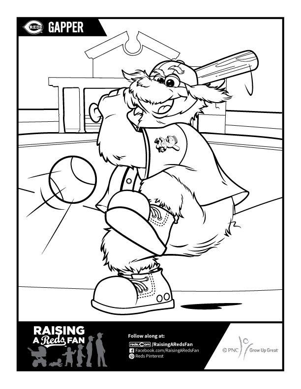 Gapper Coloring Sheet | Raising A Reds Fan | Pinterest