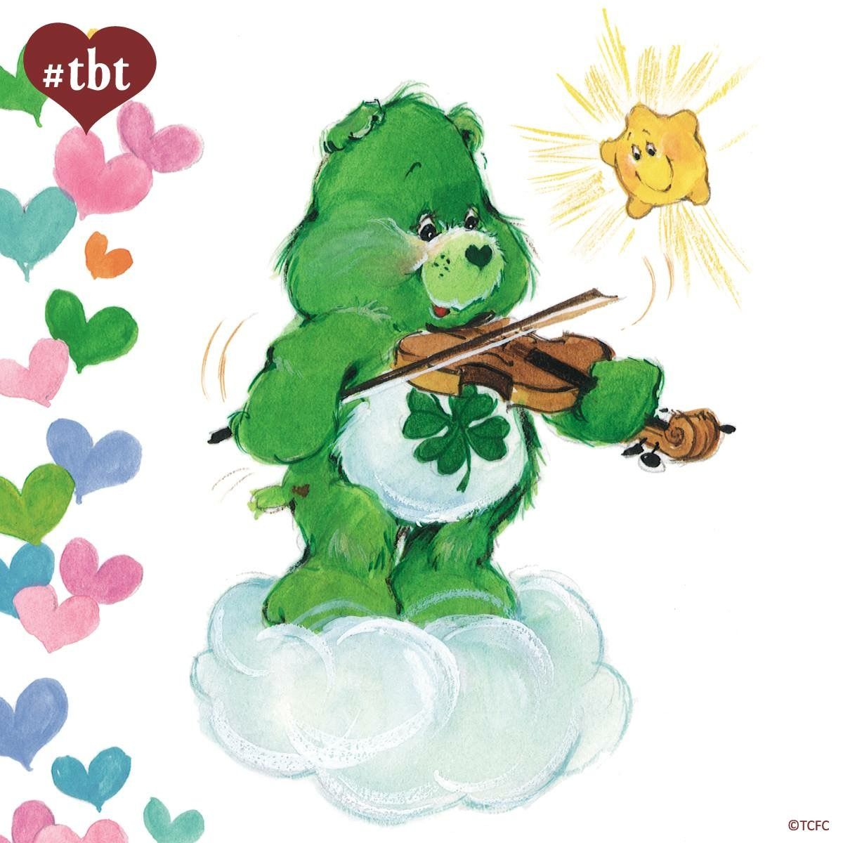 Luck Bear, playing the violin