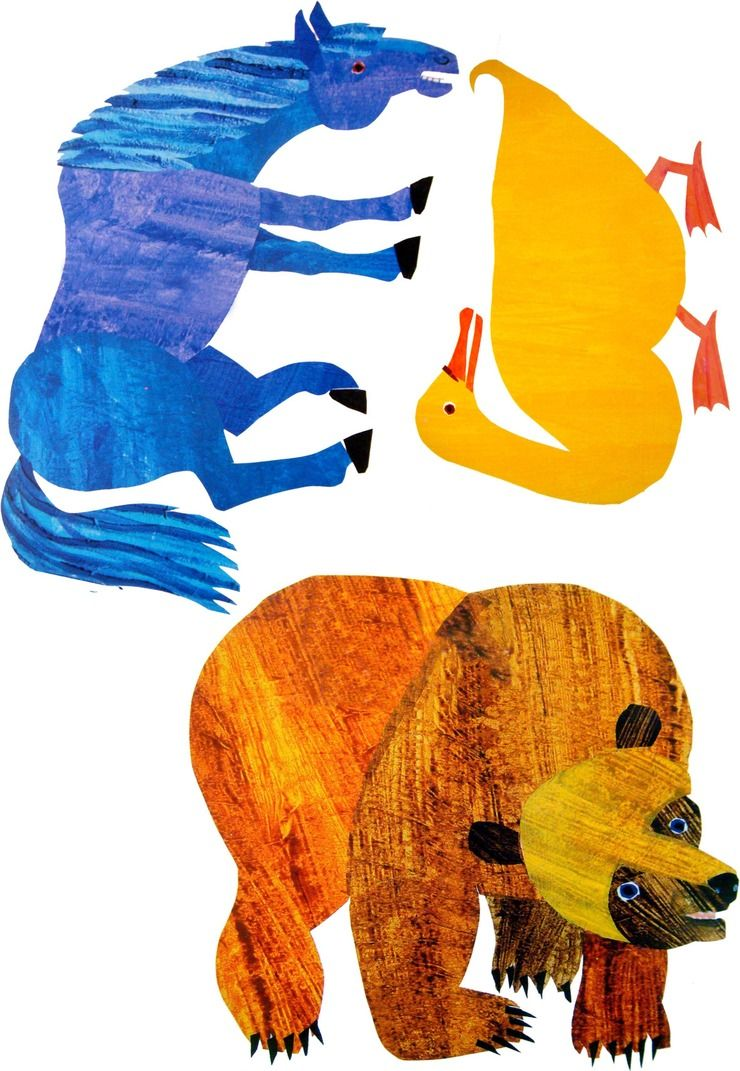 Eric Carle Brown Bear Colouring Pages Page 2