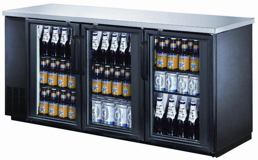 72 Back Bar Glass Door Glass Door Refrigerator