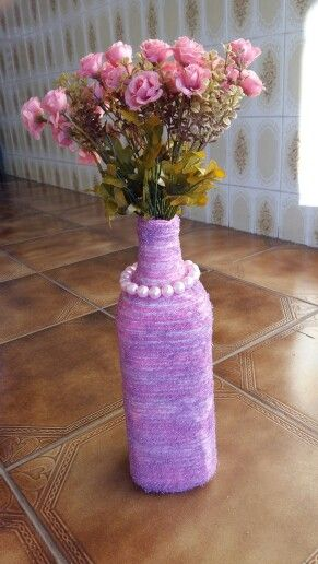 Pink thread and glitter