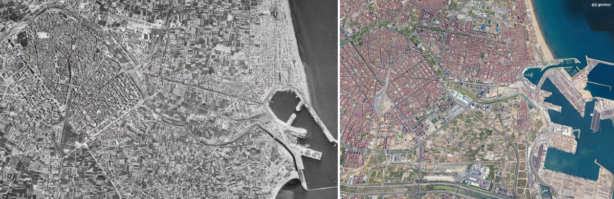 La influencia de la ingeniería en la transformación del paisaje urbano de Valencia. Periodo 1957 – 2019 #paisajeurbano