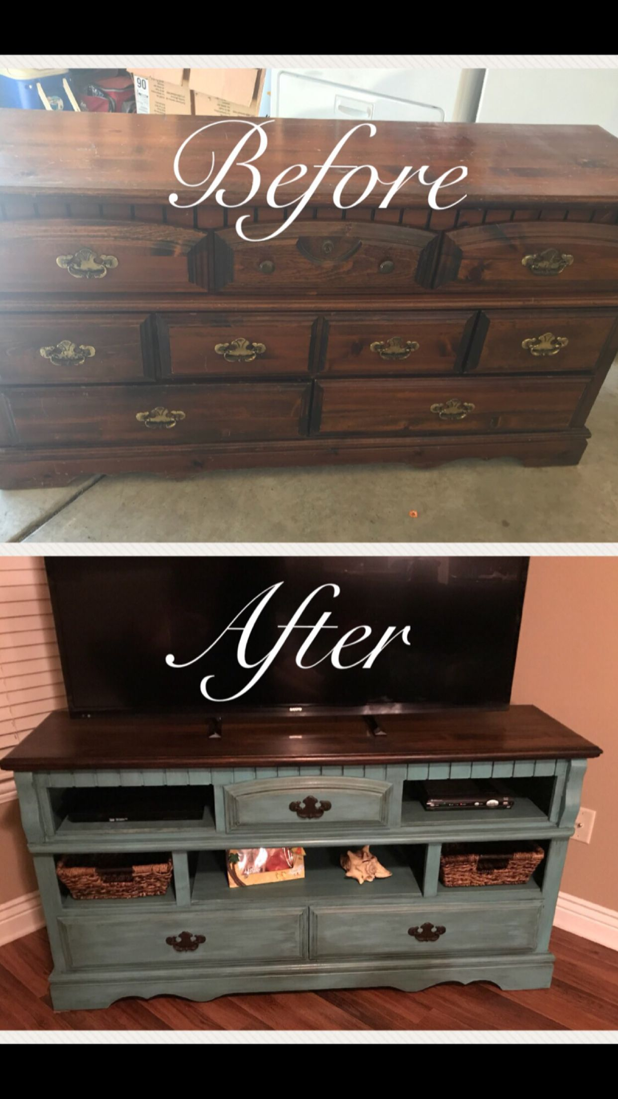Turn old dresser into tv stand!   Rustic furniture design ...