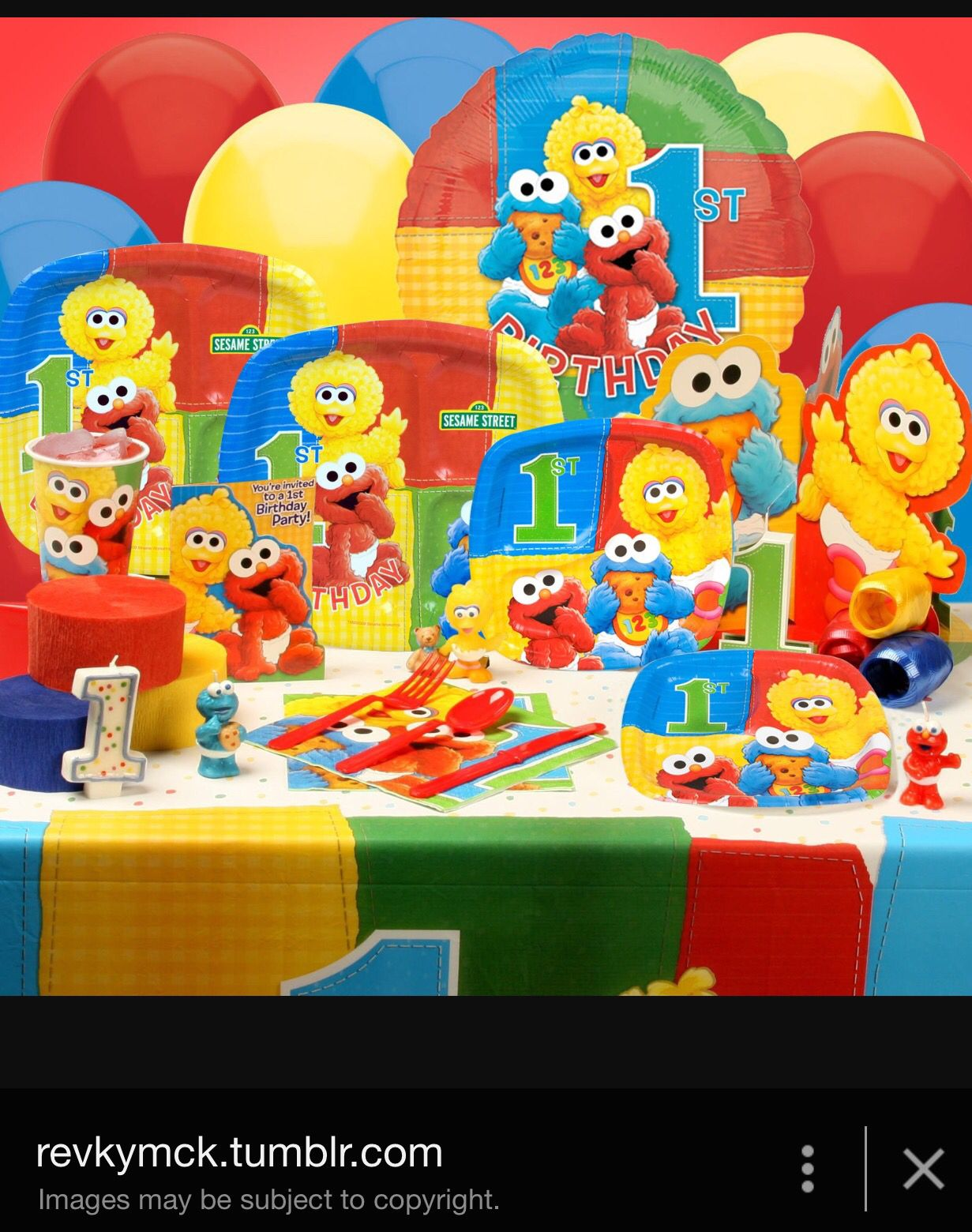 Sesame Street 1st Birthday Party Supplies 1 Year Old