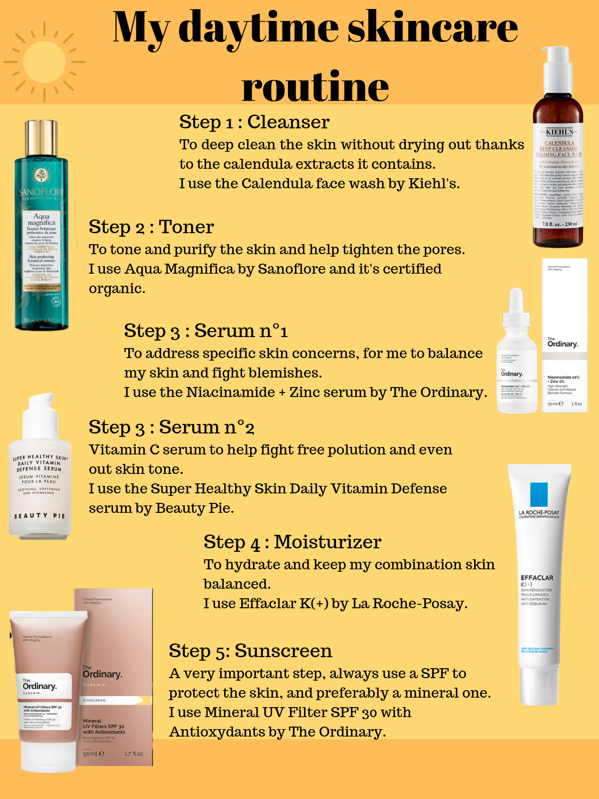 Skincare Tips My Morning Skincare Routine For Combination Skin Daytime Skincare Routine Morning Skin Care Routine Skin Care Routine Steps