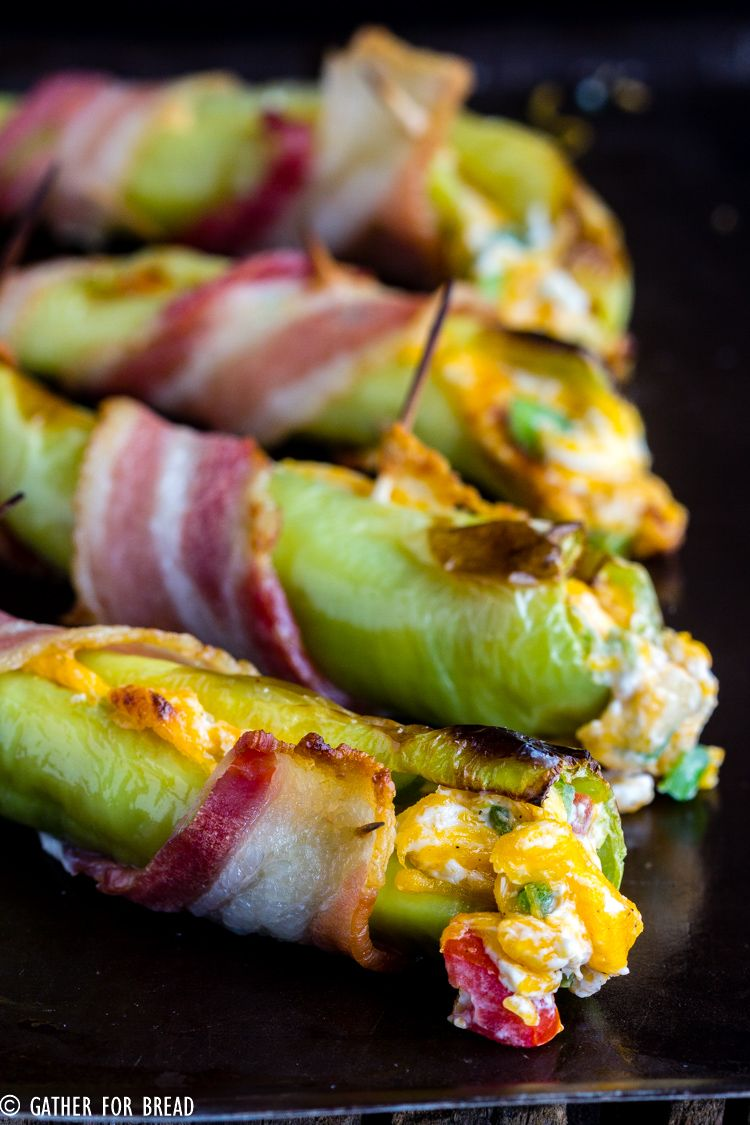Bacon Wrapped Cheese Stuffed Banana Peppers In 2020 Stuffed Banana Peppers Recipes With Banana Peppers Stuffed Peppers