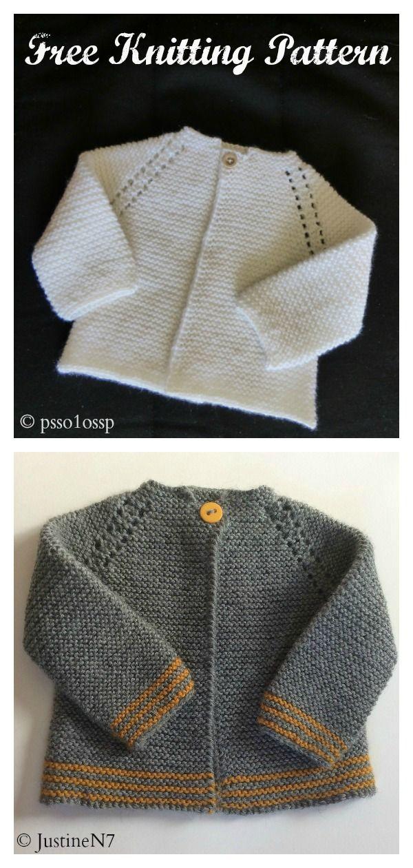 6 Garter Stitch Baby Sweater Free Knitting Pattern