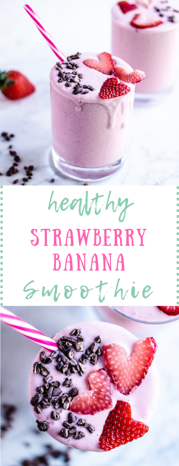 Strawberry Banana Smoothie (with coconut milk!) #strawberrybananasmoothie This healthy strawberry banana smoothie recipe is made with coconut milk to keep it dairy free.  It's easy to make and kids love it!  #dairyfree #glutenfree #paleo #strawberries #smoothie #healthy #healthystrawberrybananasmoothie Strawberry Banana Smoothie (with coconut milk!) #strawberrybananasmoothie This healthy strawberry banana smoothie recipe is made with coconut milk to keep it dairy free.  It's easy to make and kid #strawberrybananasmoothie