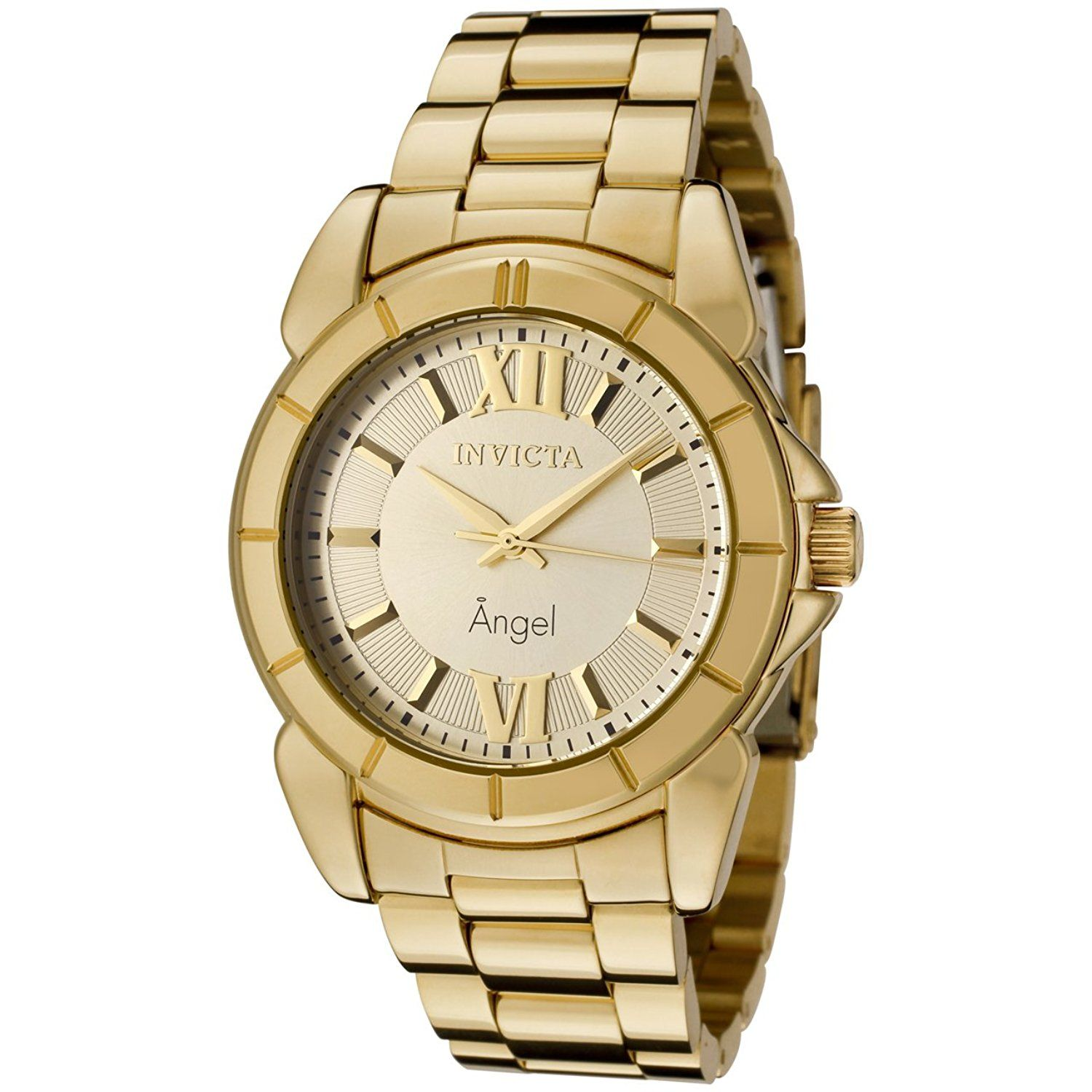 Invicta Women's 0459 Angel Collection Rhodium-Plated Gold-Tone Watch -- Quickly view this special  product, click the image