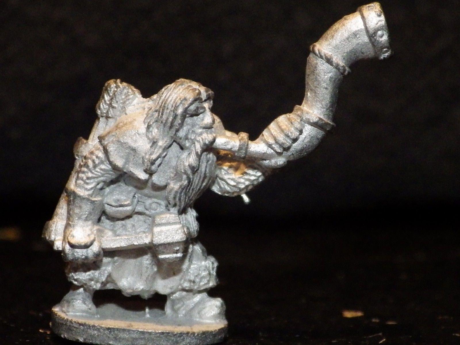 Grenadier Dwarf Command Horn Blower 177 Miniature Metal