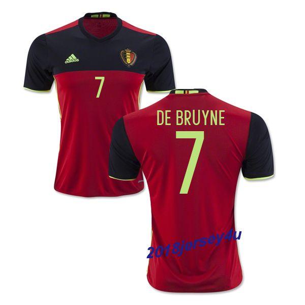 364760c4852 Kevin De Bruyne 7 2016 Belgium Home Jersey