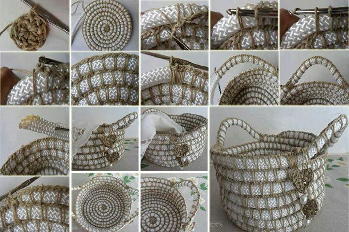 Diy rope basket | baskets | Pinterest