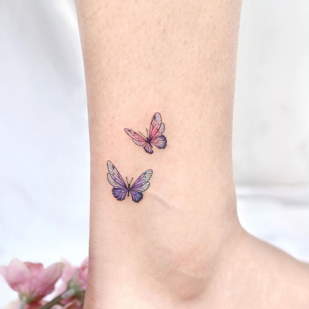 Incredibly Beautiful Collection Of 100 Butterfly Tattoos That You D Want To Get Right Now Millions In 2020 Ankle Tattoo Tiny Butterfly Tattoo Butterfly Ankle Tattoos