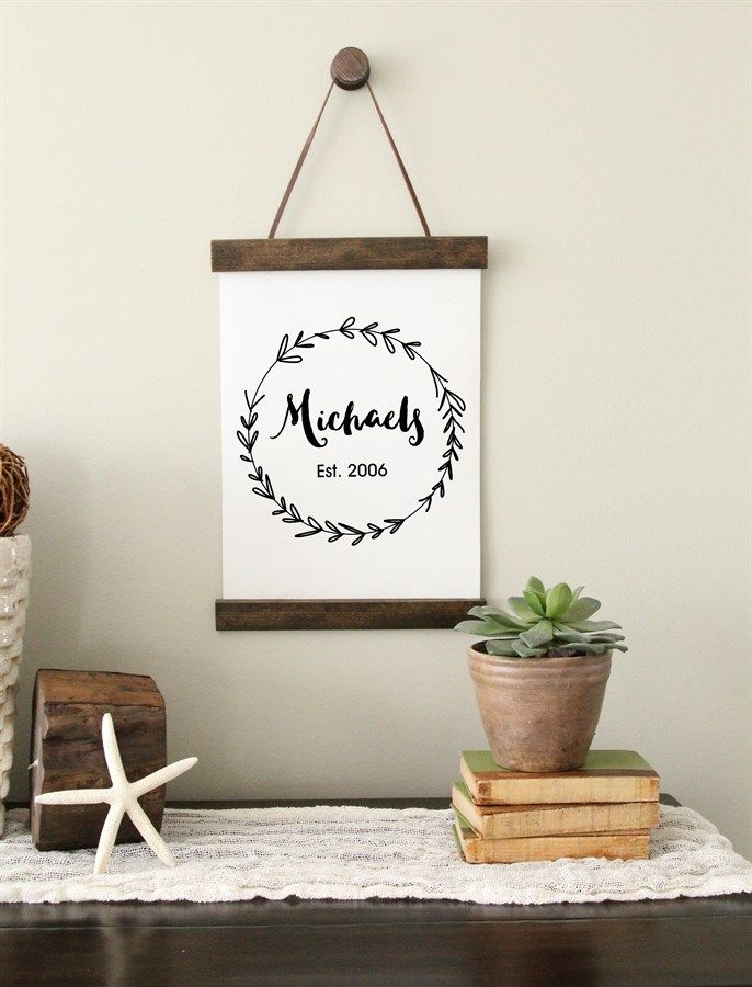 Personalized Canvas Wall Hanging Diy Hanging Canvas