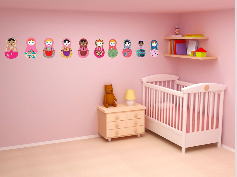 Kids Bedroom International Russian Dolls Wall Decals / Stickers   Home Decor  / Interior Decorating
