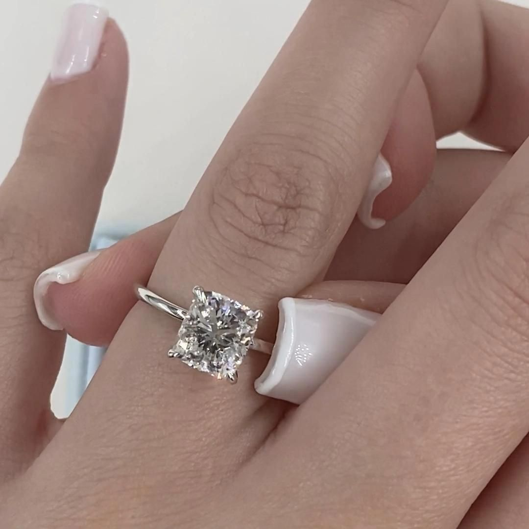 Diamond Engagement Ring1 92 Carat Elongated Cushionsolitaire Etsy In 2020 Dream Engagement Rings Engagement Rings Princess Engagement Ring