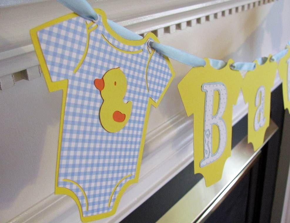 Baby Shower Onesie Banner Crafts Baby Shower Duck Baby Shower