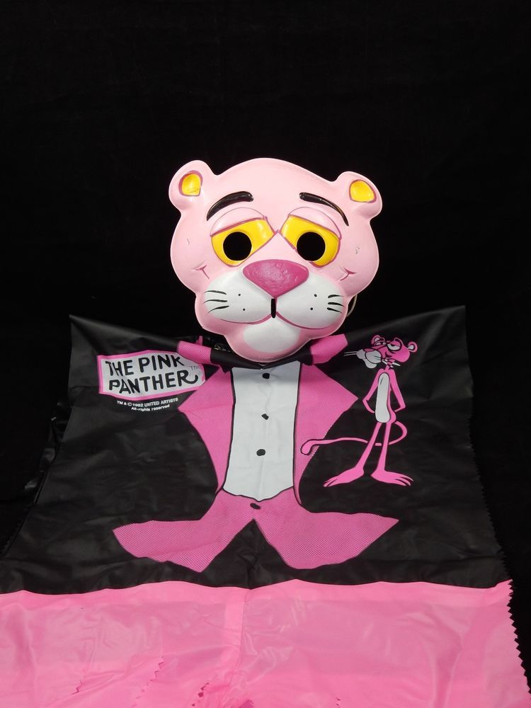 United Artist 1980's Pink Panther Vinyl Costume w/Plastic