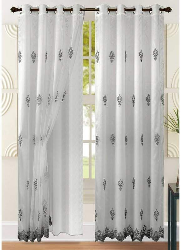 House Of Hampton Success Floral Flower Sheer Single Curtain Panel Panel Curtains Printed Cotton Curtain Floral Room