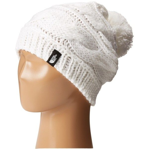 The North Face Triple Cable Pom Beanie (TNF White) Beanies ( 28) ❤ liked on  Polyvore featuring accessories 3f0d75148e4