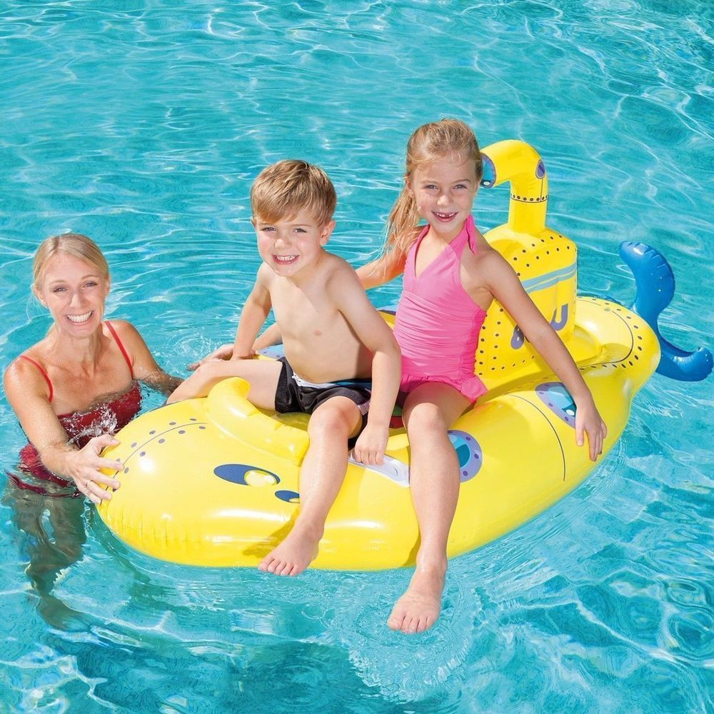 Inflatable Boat Float Ride Kids Pool Toys Boys Girls