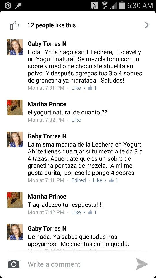 Gelatina yogurt