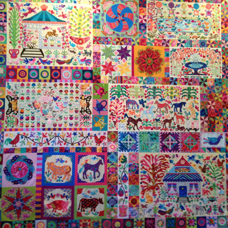 Pandemonium quilt in 100% Kaffe Fassett Collective fabrics. Design ... : kim mclean quilts - Adamdwight.com