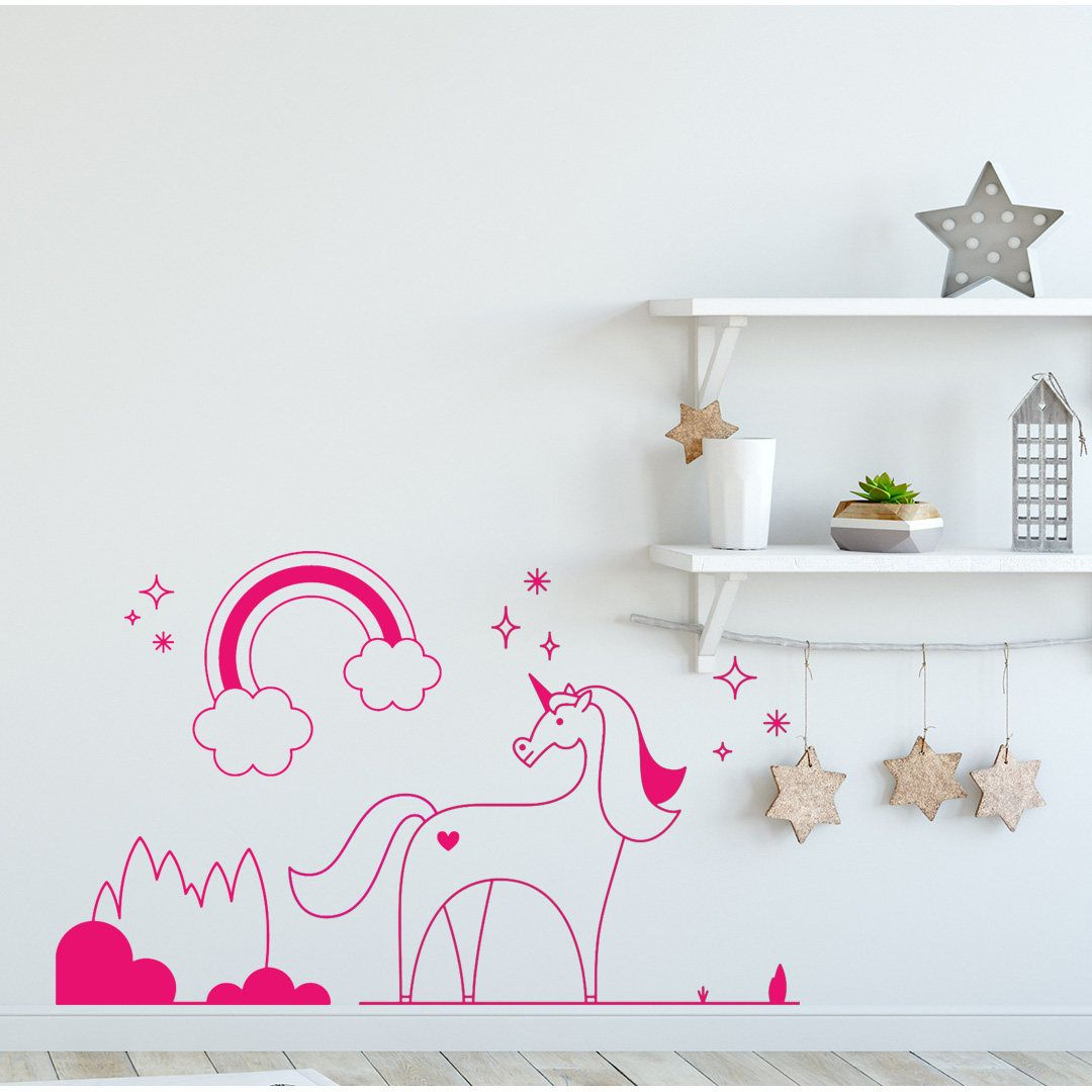 Unicorn Wall Decal, Wall Decor, Colored Stickers, Wall Decals ...