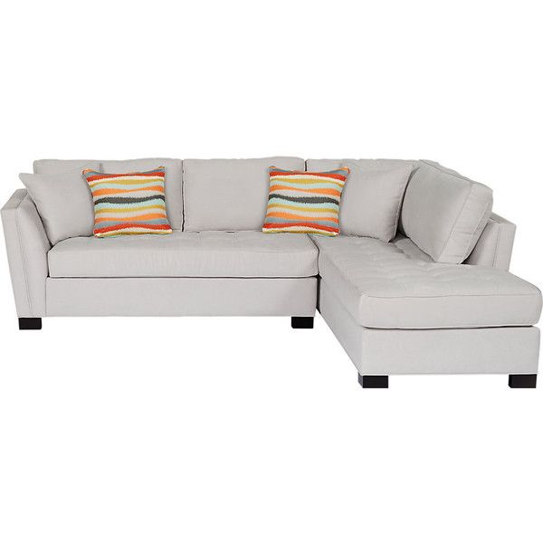 Cindy Crawford Home Calvin Heights Platinum 2 Pc Sectional