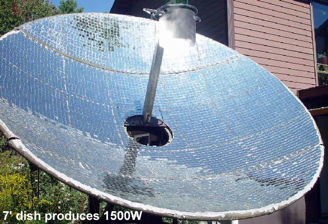 Make Your Own Backyard Solar Concentrator Off The Grid