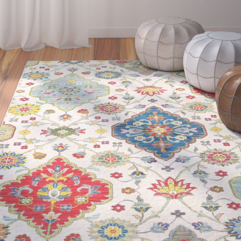 Mansi Multicolor Rug Blue Floral Couch Area Rugs Area Room Rugs