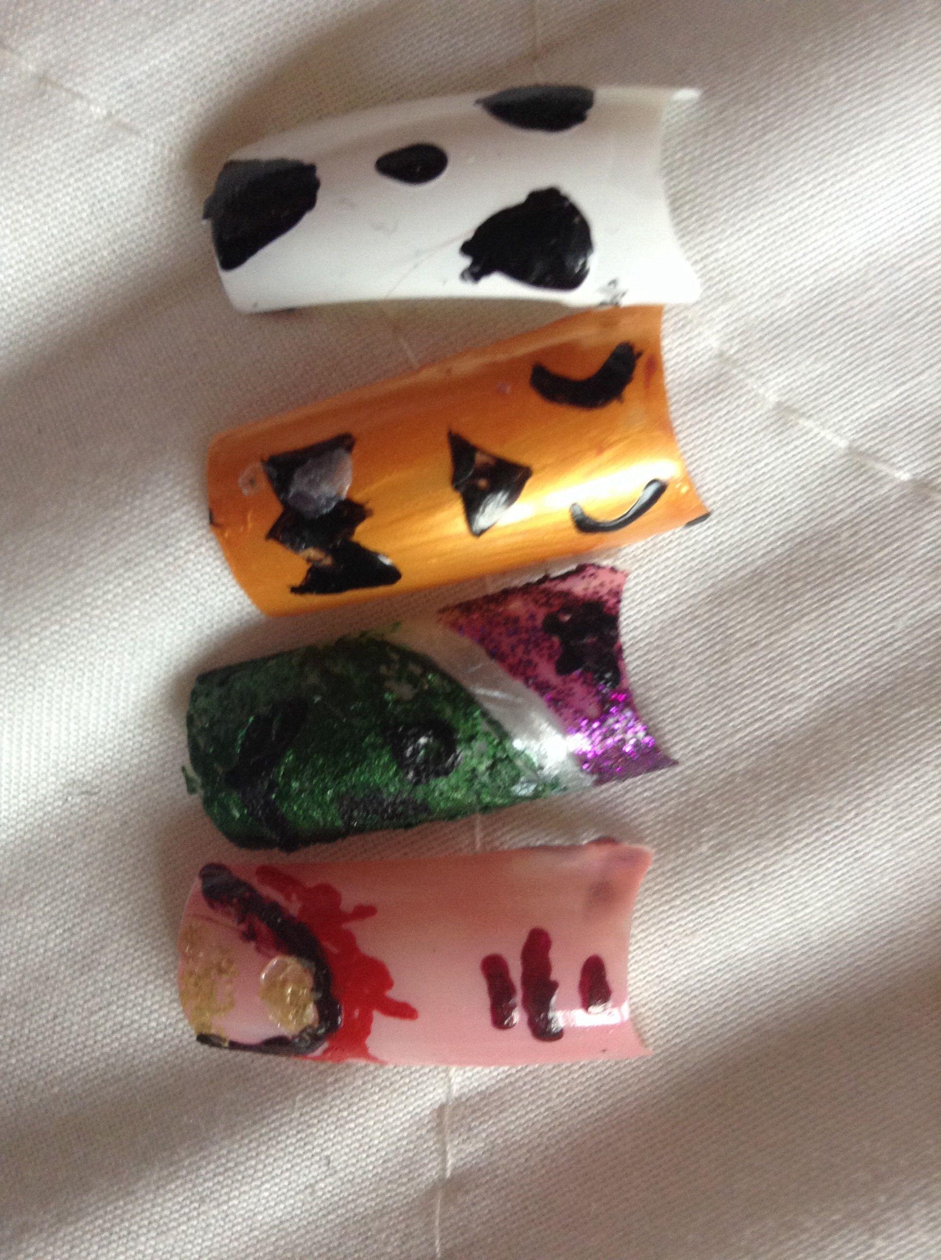 Halloween.. Ghost, pumpkin, witch and a bleeding finger :)