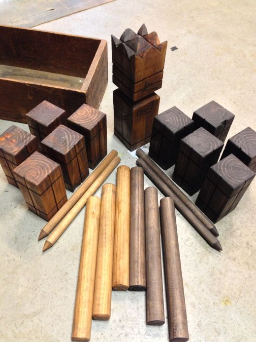 Kubb Game Set Kubb Game Wood Games Wooden Games