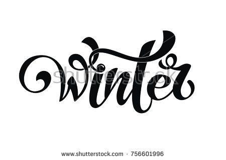 Winter handlettering inscription winter logos and emblems for alwih shutterstock m4hsunfo