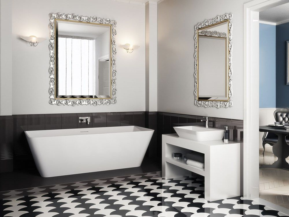 ROCCIA supply this product line: Clearwater. White sink unit. Contemporary bathroom sink.