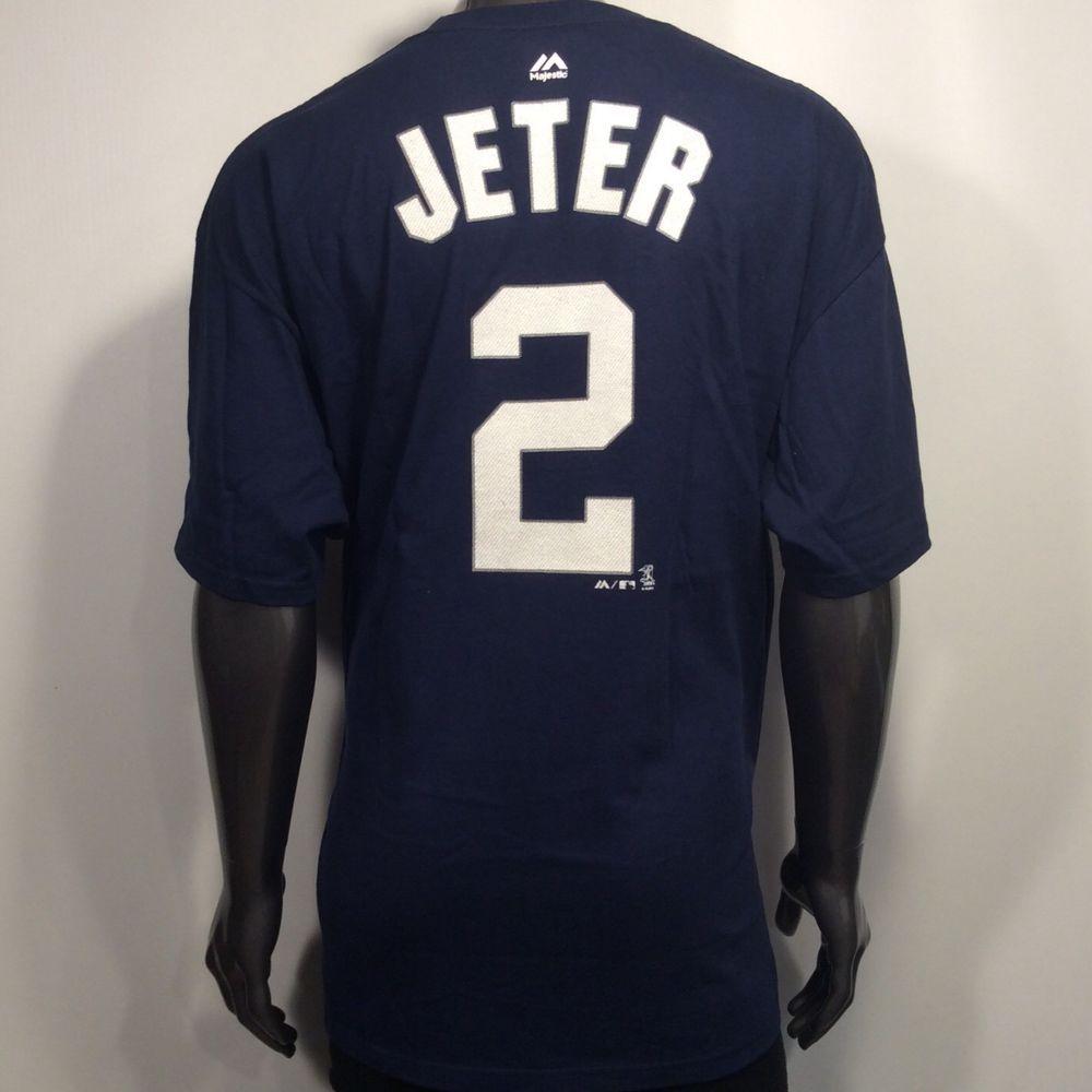half off 3efb0 28ce2 ⚾️ New York Yankees Derek Jeter #2 2XL Player's Jersey ...