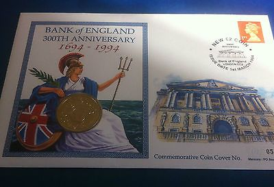 1994 £2 new two #pound coin bank of #england #300th anniversary comm coin cover,  View more on the LINK: http://www.zeppy.io/product/gb/2/182016462862/