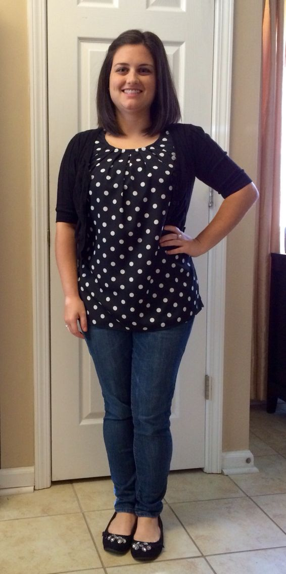 e7468dda81a Business Casual - Casual Friday! Black and white polka dot sleeveless blouse