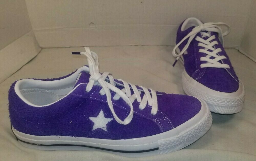 NEW CONVERSE ONE STAR PURPLE OX SUEDE LO TOP SNEAKERS SIZE