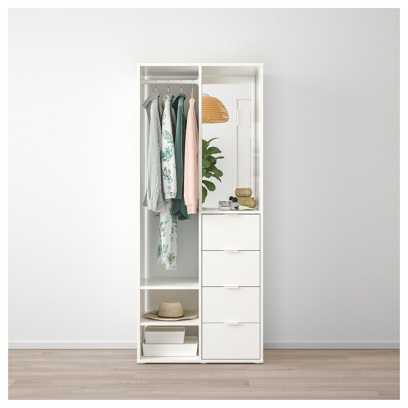 Sundlandet Open Wardrobe White 31 1 8x17 3 8x73 5 8 Ikea Open Wardrobe Diy Wardrobe Ikea