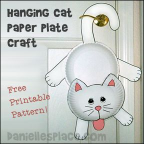 Hanging Cat Paper Plate Craft for Kids from .daniellesplace.com  sc 1 st  Pinterest & Hanging Cat Paper Plate Craft for Kids from www.daniellesplace.com ...