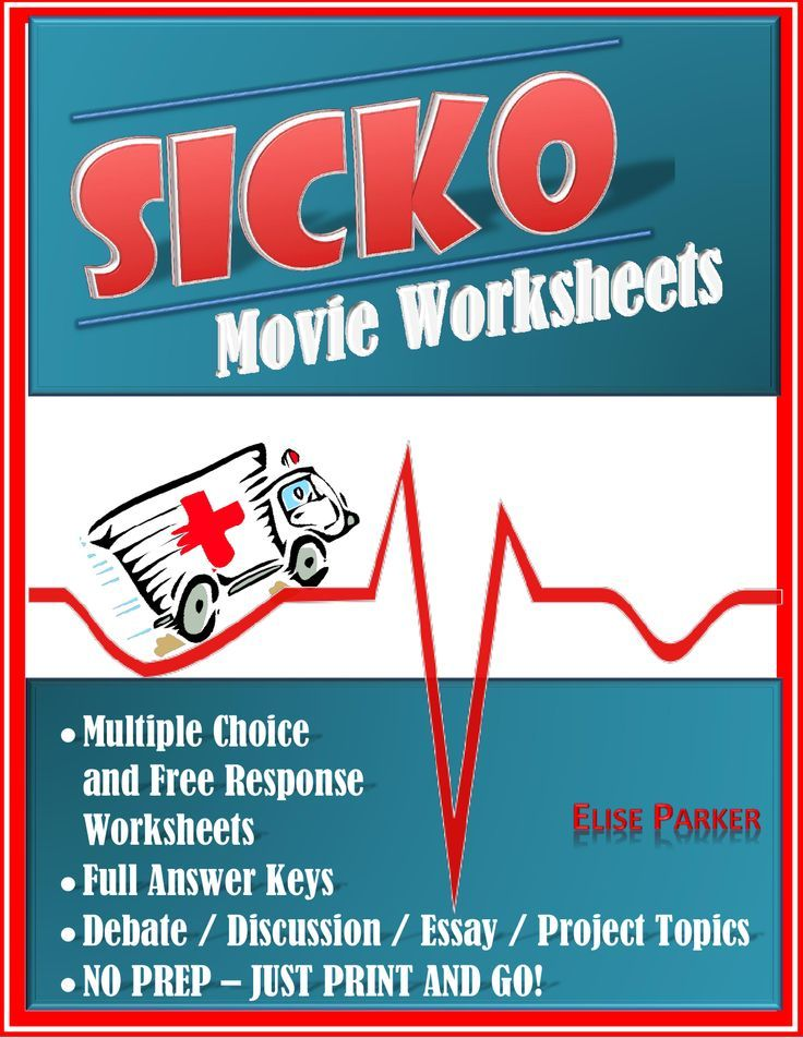 005 Sicko Worksheets, Movie Guide, and Debate/Essay/Project
