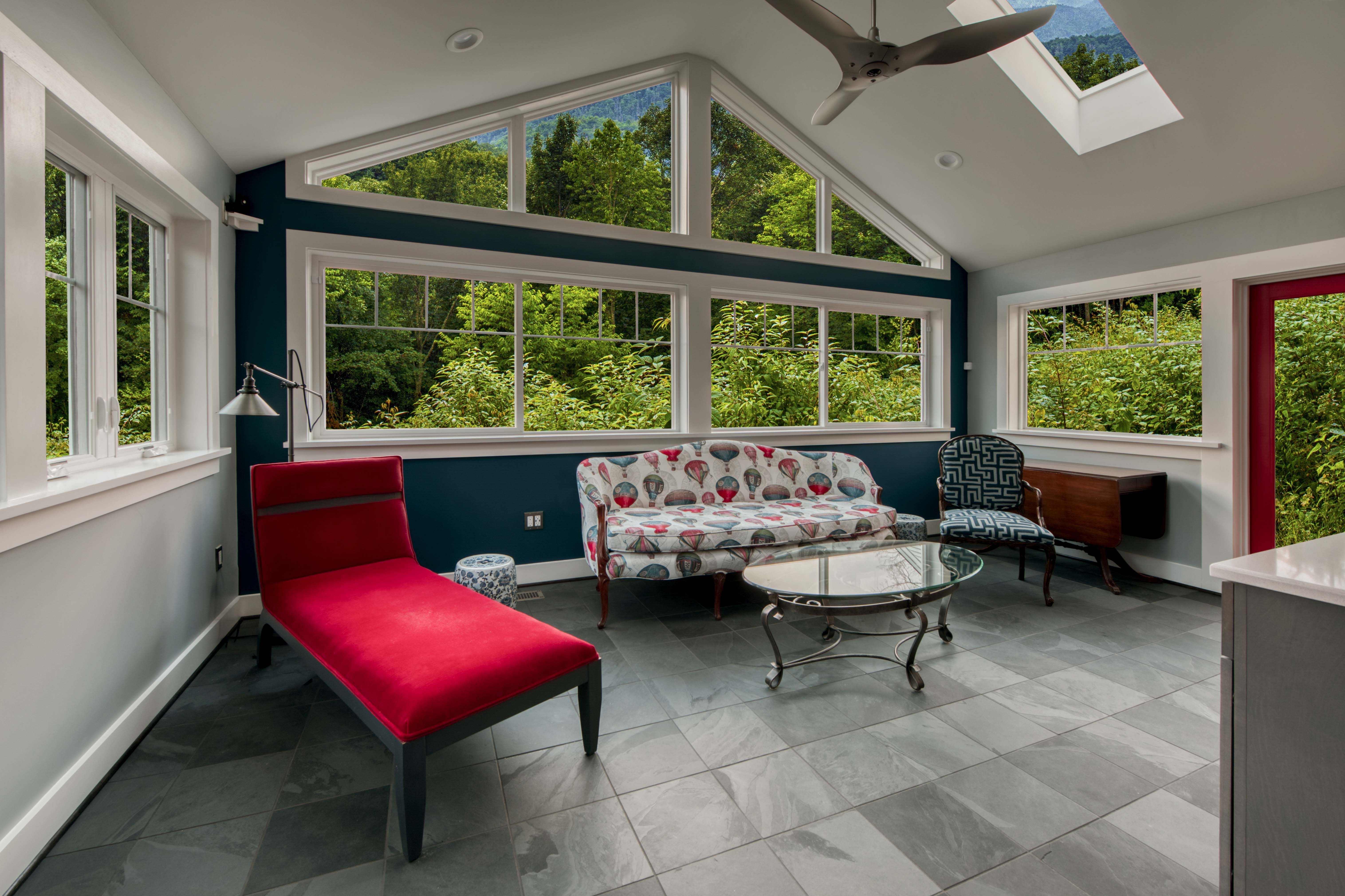 Sunroom Addition With Radiant Floor Heating Throughout Cool
