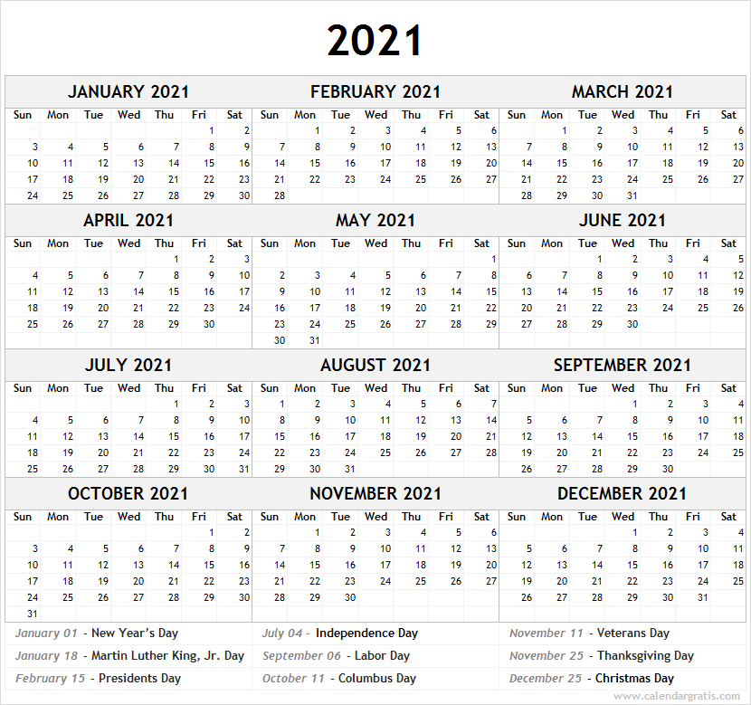 Calendar 2021-2022 Template Printable Calendar 2021 Template for School | 2021 2022 Calendar