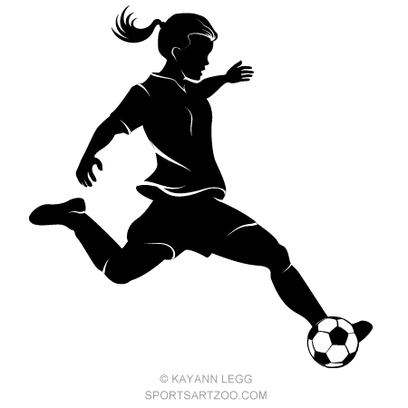 Girl Soccer Player Highlighted Silhouette Sportsartzoo Girl Playing Soccer Girls Soccer Soccer Players