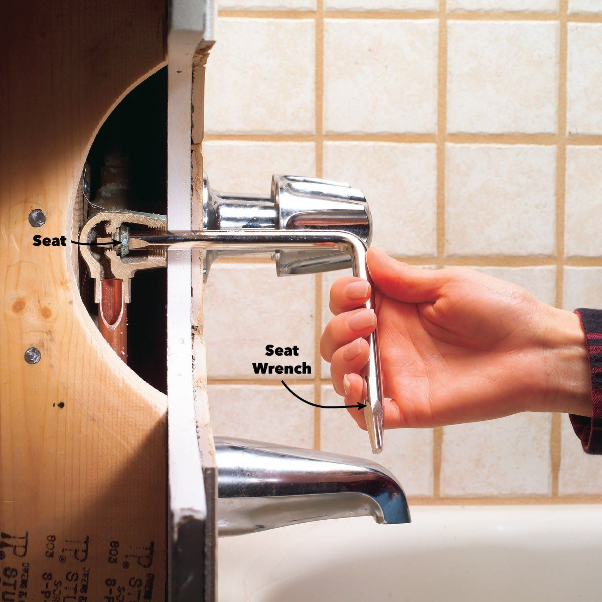 How To Fix A Leaking Bathtub Faucet Faucet Repair Faucet Leaky