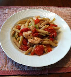 Warm Roasted Chicken Salad with Whole Wheat Penne